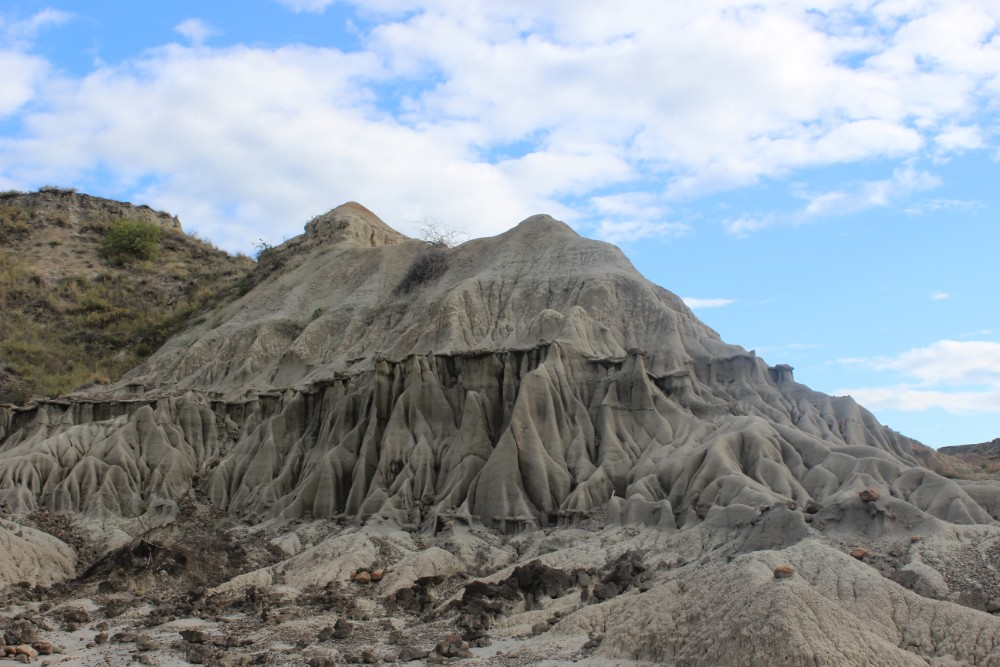 Graue Wüste Felsen Tatacoa Blauer Himmel