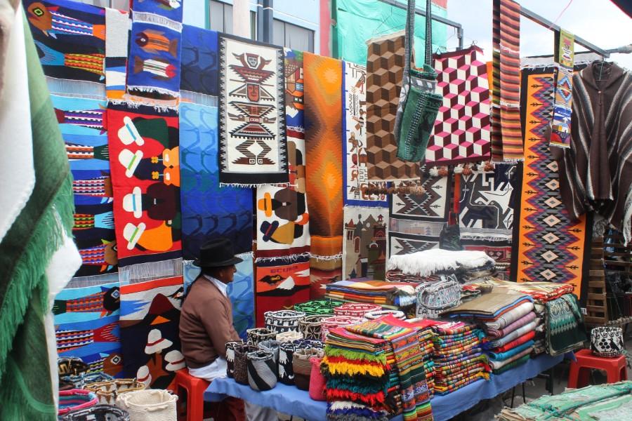 Teppiche Markt Otavalo Farben Muster