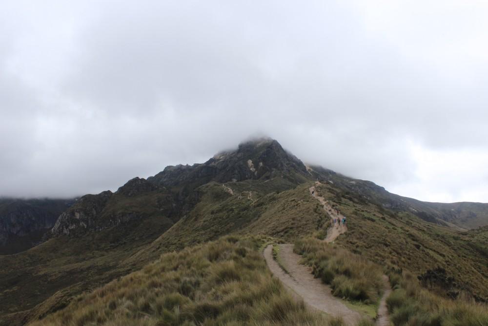 Berg Vulkan Wanderung Nebelgrenze