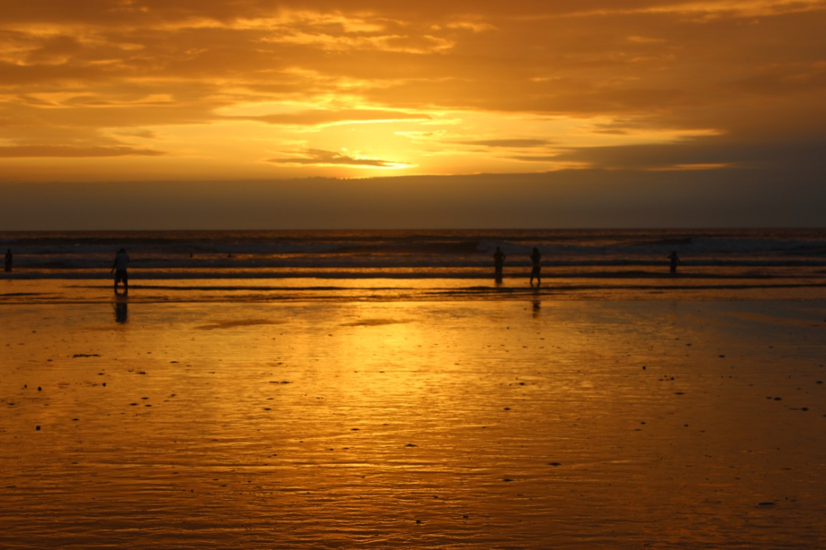 Sonnenuntergang Meer Strand Canoa Ecuador