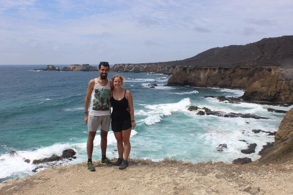 Isla de la Plata Silberinsl Pärchen Aussicht Meer Felsen