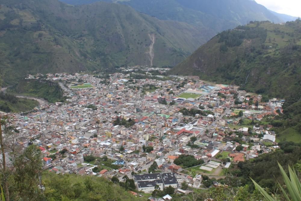 Banos Ecuador Stadt Vulkan Berge Tal Aussicht Wanderung
