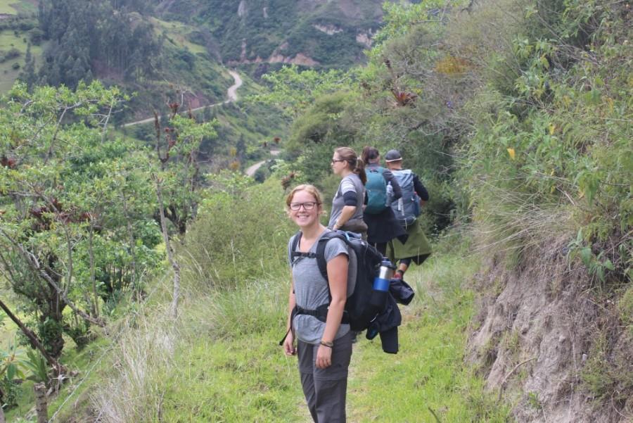 Quilotoa Loop Wandern Berge Natur Canyon Ecuador Südamerika