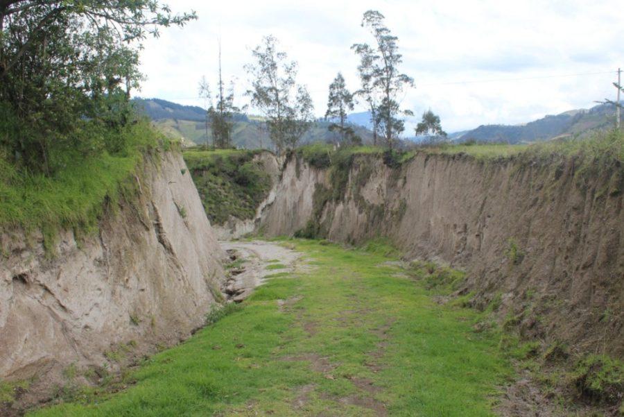 Quilotoa Loop Wandern Berge Natur Canyon Ecuador Südamerika Wanderweg