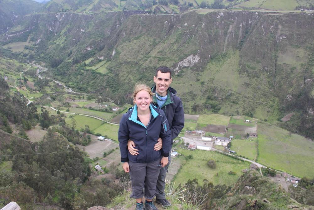 Quilotoa Loop Wandern Berge Natur Canyon Ecuador Südamerika Aussichtspunkt