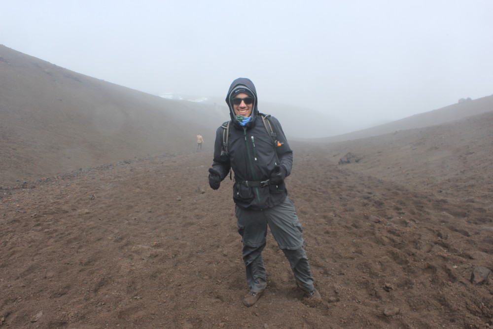 Wandern Cotopaxi Vulkan Ecuador Nebel