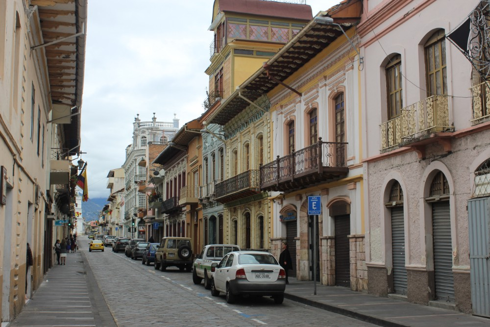 Cuenca Stadt Ecuador Südamerika Großstadt Straße Häuser