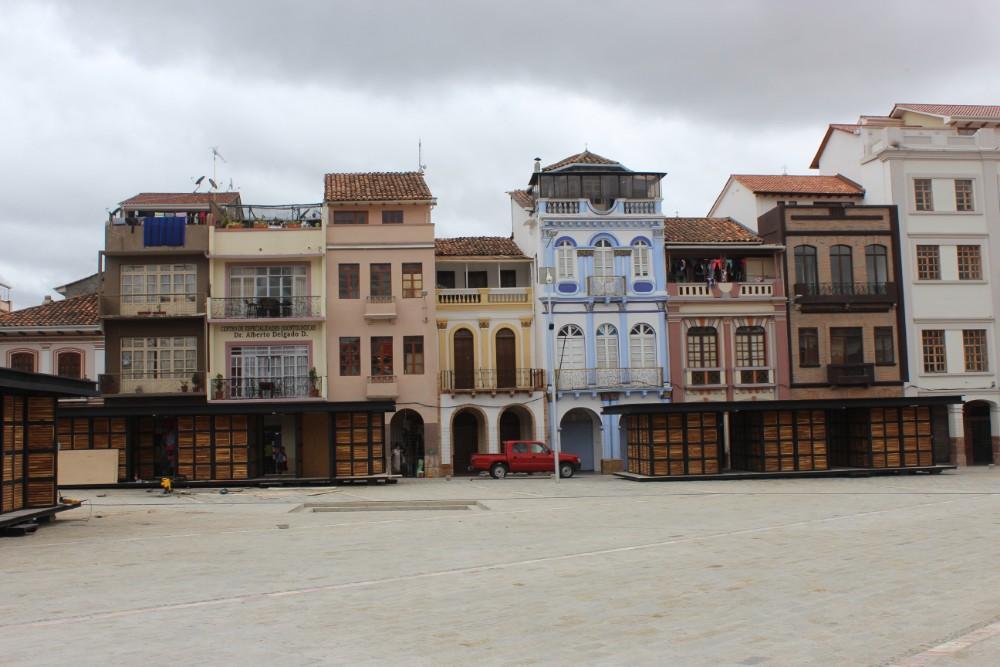 Cuenca Stadt Ecuador Südamerika Großstadt Häuser Platz