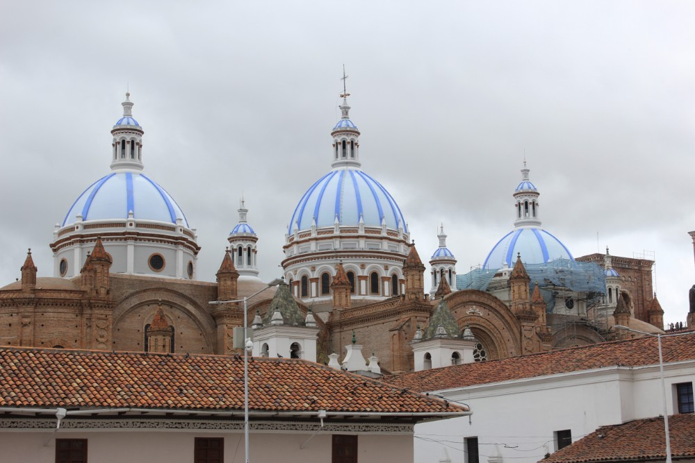 Cuenca Stadt Ecuador Südamerika Großstadt Kirche Kathedrale
