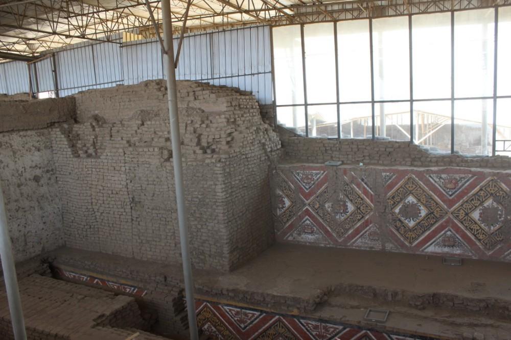 Tempel Ebenen Huaca de Luna Peru Südamerika Alt Kultur Moche