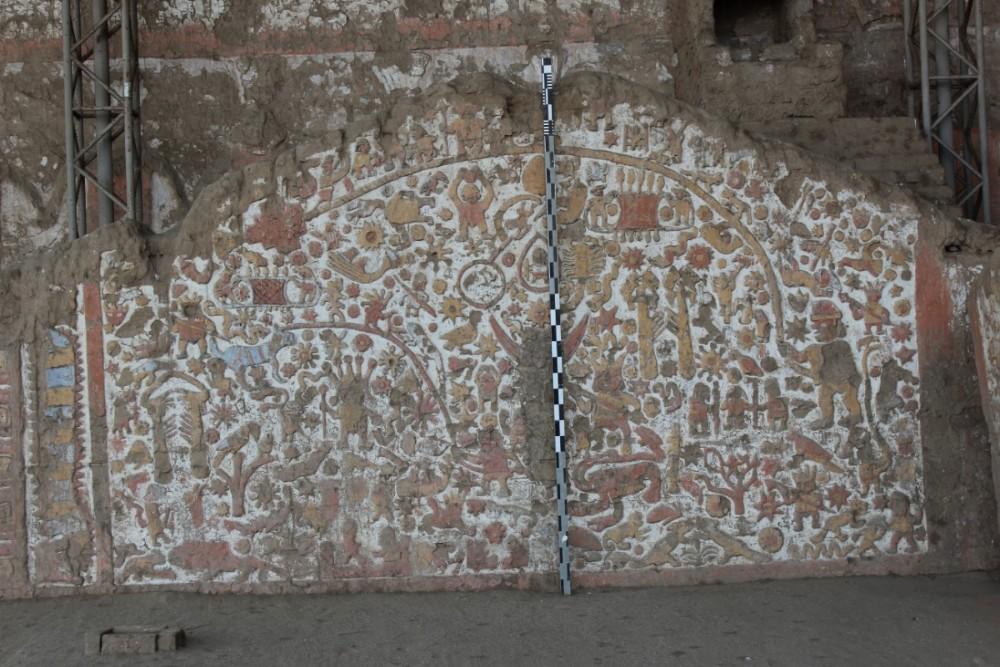 Moche Südamerika Peru Kultur Wand Verzierungen Farben