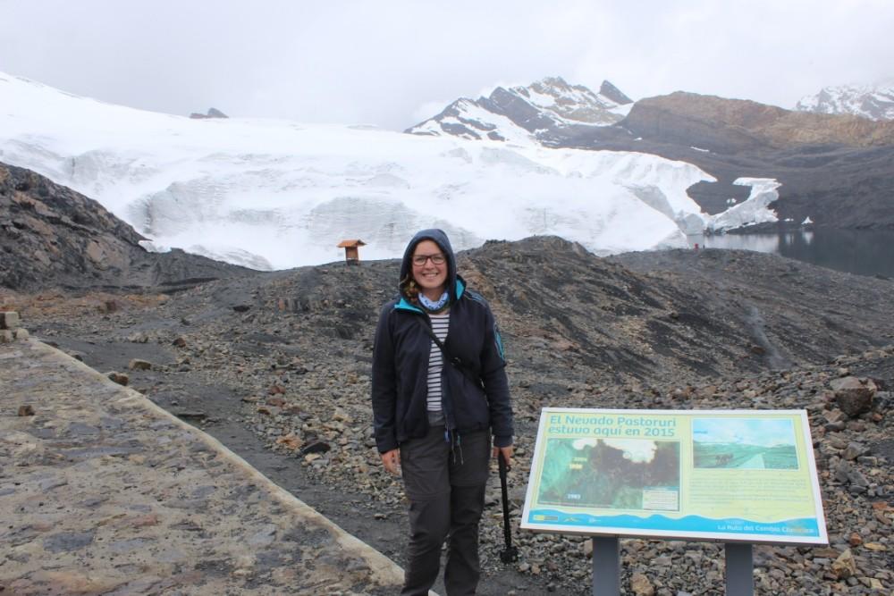 Pastoruri Gletscher Eis Massiv 5000 Meter Kalt Peru Südamerika Huaraz