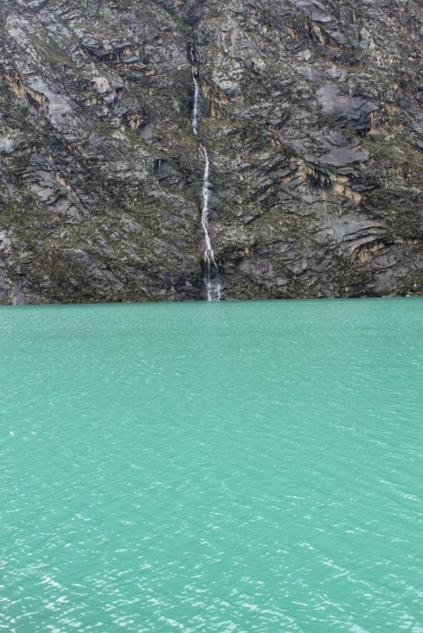 Lagune 69 Berge Gebirge Türkis Wasser Wanderung Gletscher Eis Peru Südamerika
