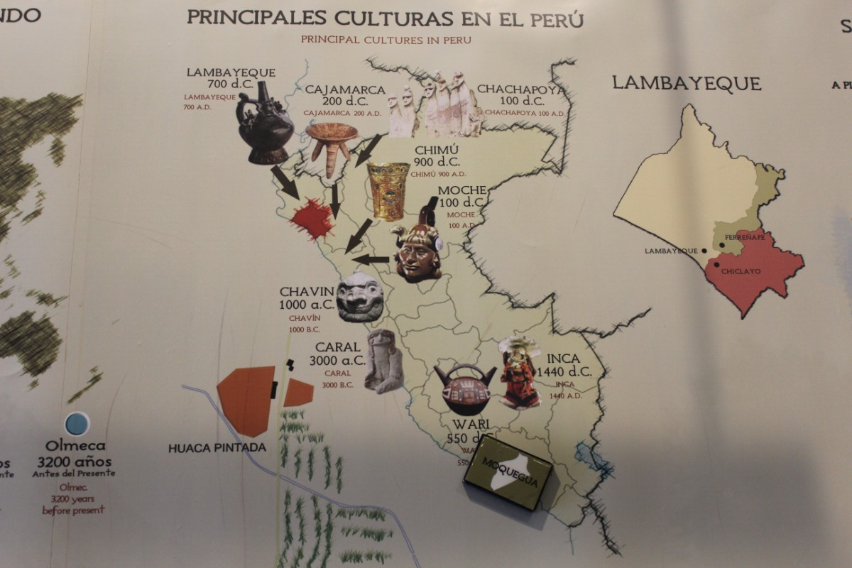 Indigene Kulturen Peru Moche Incas Chimu Südamerika Chiclayo Museum