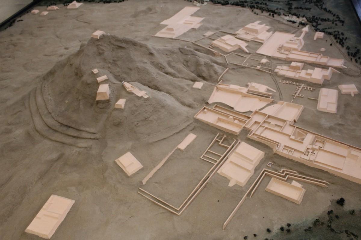 Chiclayo Peru Südamerika Tucume Pyramiden Ruinen Nachbildung Miniatur