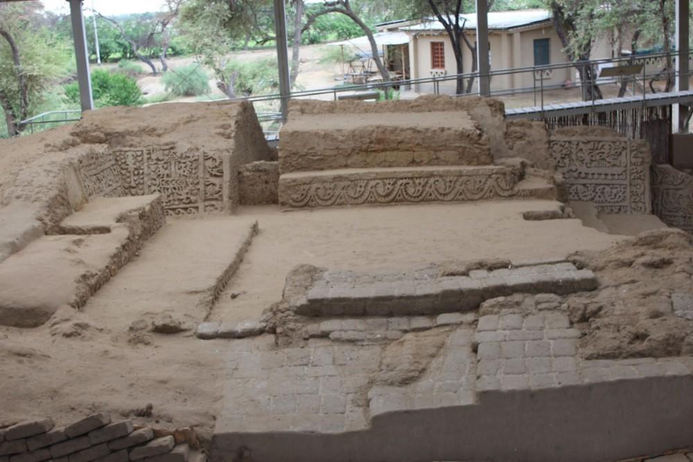 Chiclayo Peru Südamerika Tucume Pyramiden Ruinen Verzierungen Kunsthandwerk