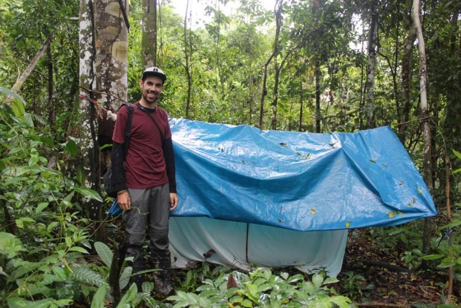 Amazonas Regenwald Peru Südamerika Natur Tiere Wildleben Camping Hägematte Mosquitonetz Plane