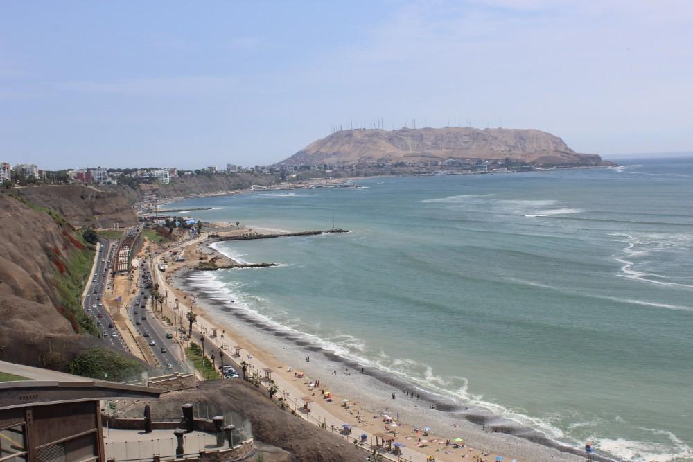 Strand Miraflores Lima Schönes Viertel Südamerika Peru Hauptstadt
