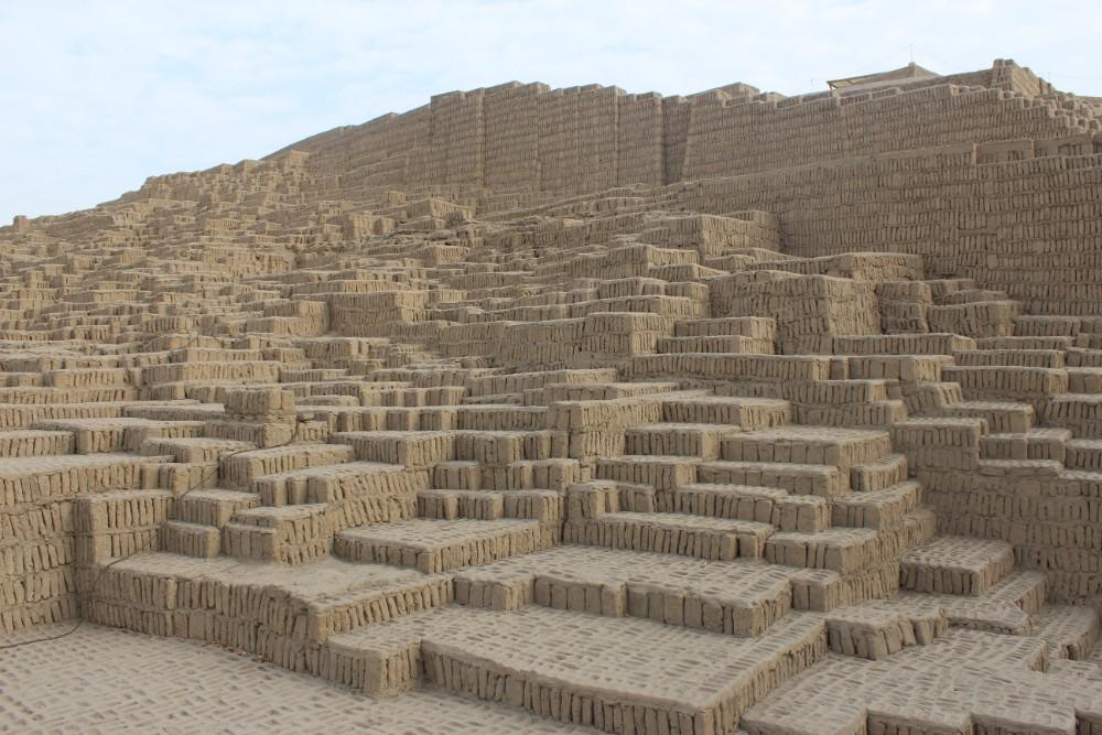 Huaca Pucullana Lima Stadtzentrum Ruinen Chimu Wari Inka Indigen Tempel