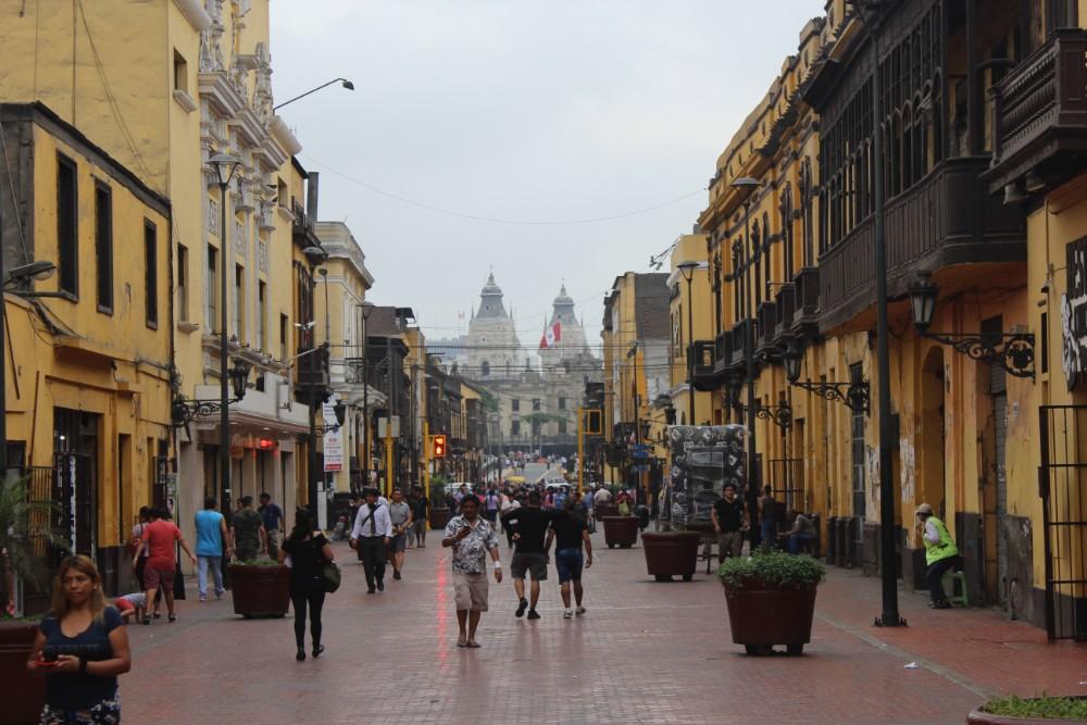 Lima Straßen Historisches Zentrum Hauptstadt Peru Südamerika
