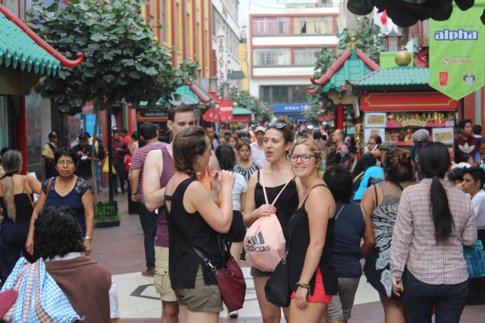 Chinatown Lima Peru Hauptstadt Südamerika Hektisch Menschen Chinesisch