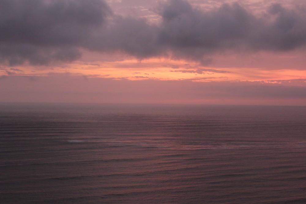 Lima Peru Hauptstadt Barranco Künstlerviertel Strand Sonnenuntergang Meer