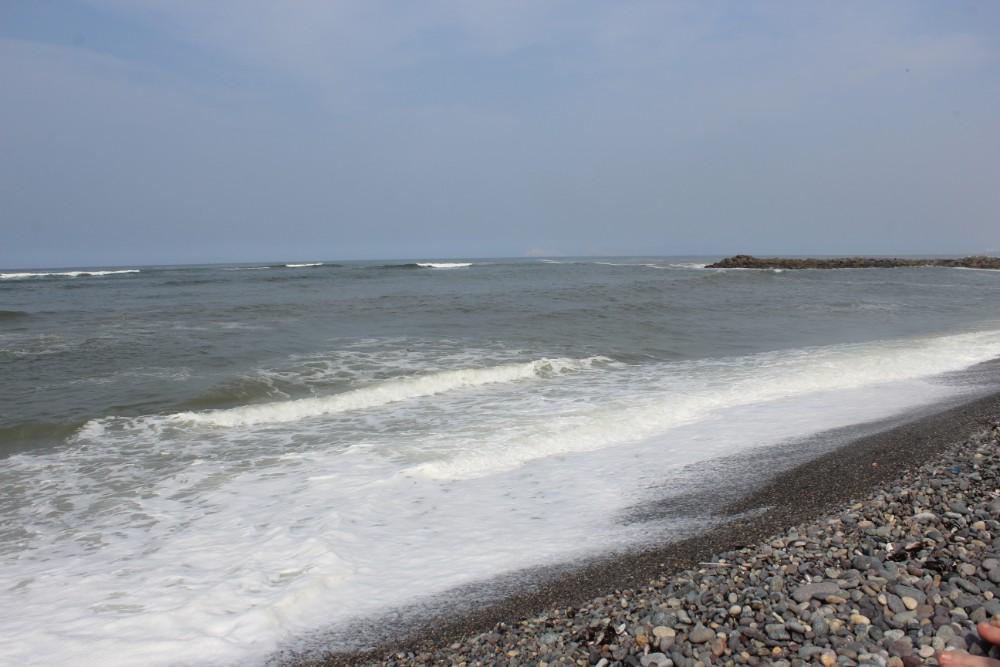 Strand Kies Lima Miraflores Meer Wellen Surfer Wasser Kalt Natur Sonnenschein