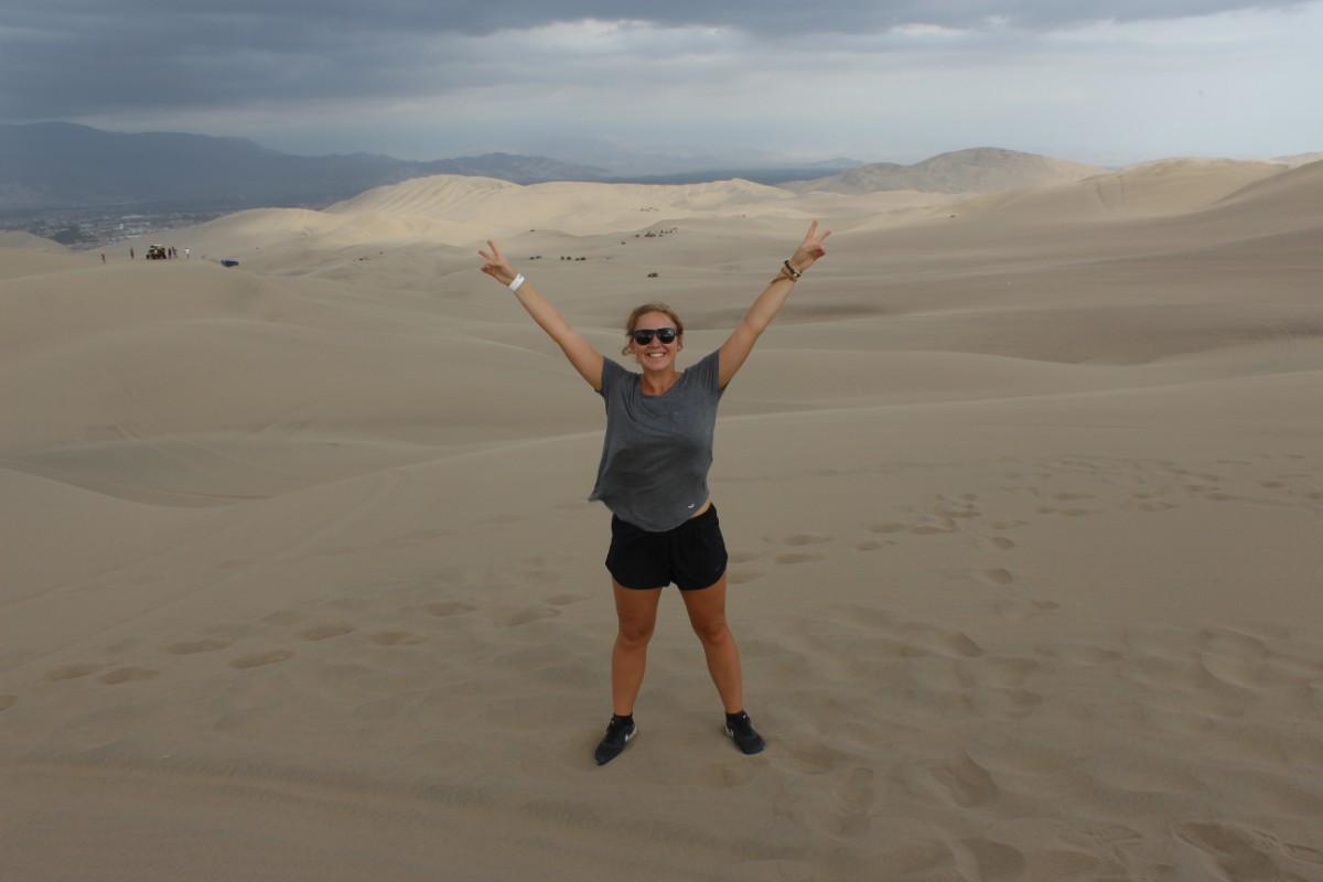 Huaccachina Ica Peru Südamerika Wüste Sand  Aussicht