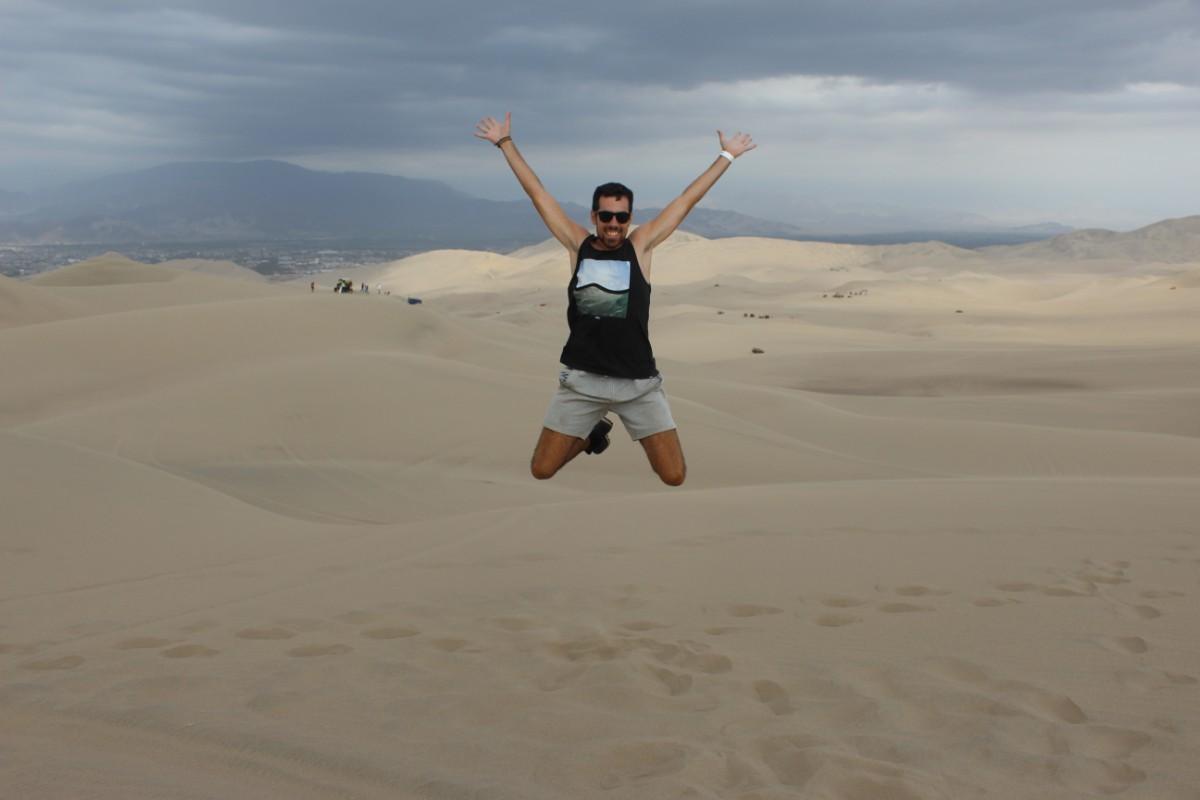 Huaccachina Ica Peru Südamerika Wüste Sand Weite Aussicht