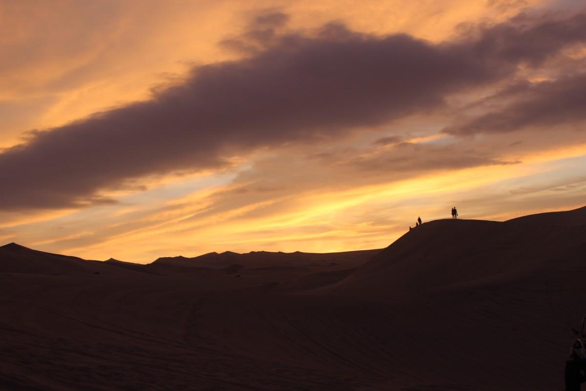 Huaccachina Ica Peru Südamerika Wüste Sand  Aussicht Sanddünen