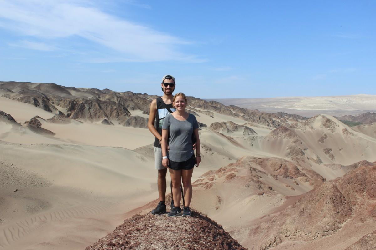 Huaccachina Ica Peru Südamerika Wüste Sand Felsen Aussicht