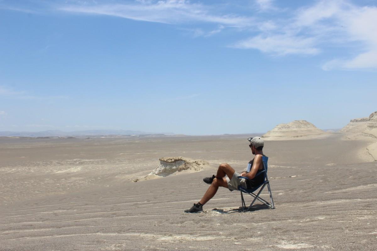 Huaccachina Ica Peru Südamerika Wüste Sand Steine Aussicht Pause Entspannt