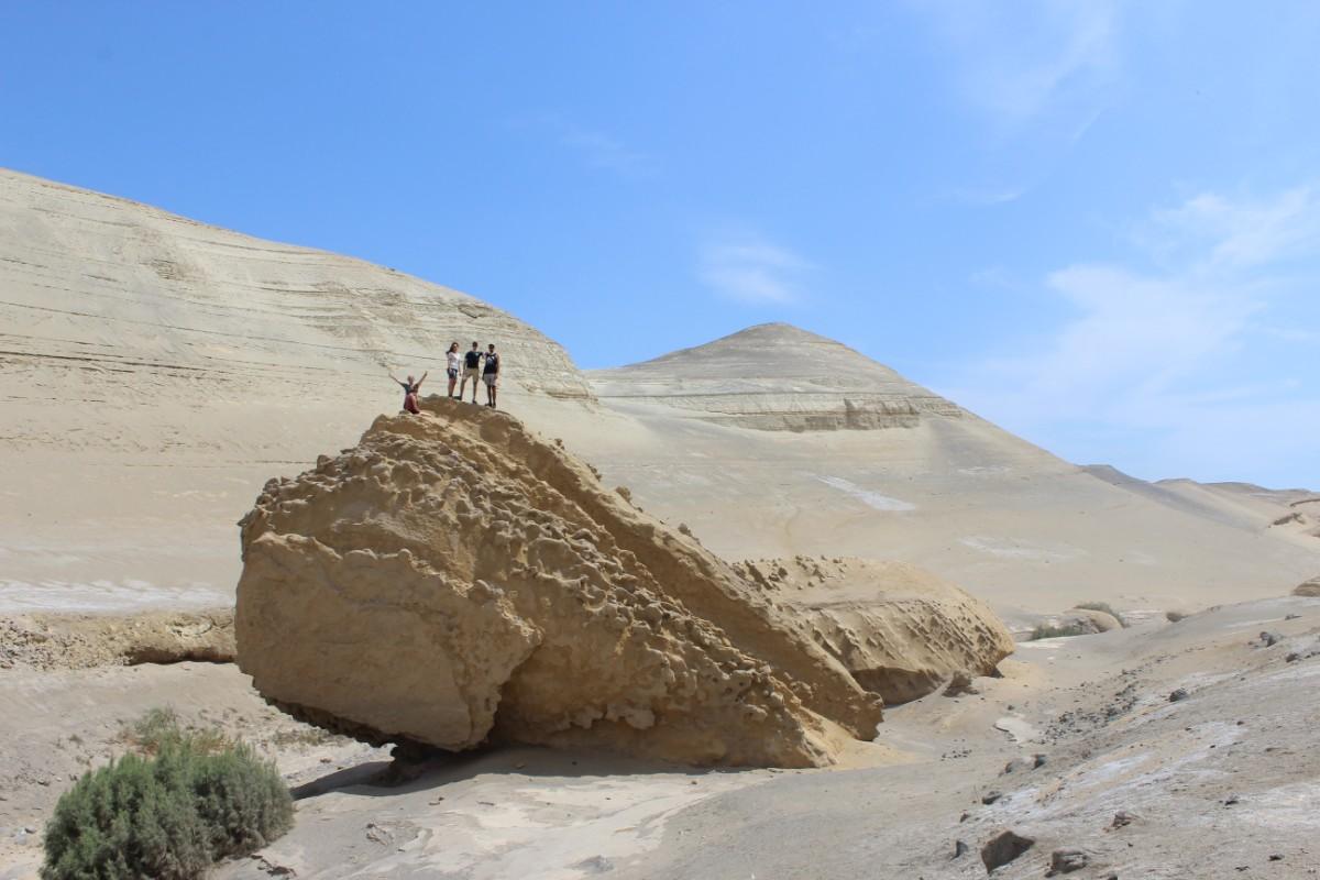 Huaccachina Ica Peru Südamerika Wüste Sand Steine Aussicht