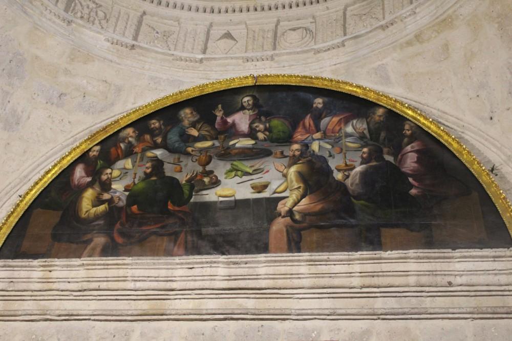 Arequipa Peru Südamerika Kirche Gemälde Abendmahl Jesus Meerschweinchen