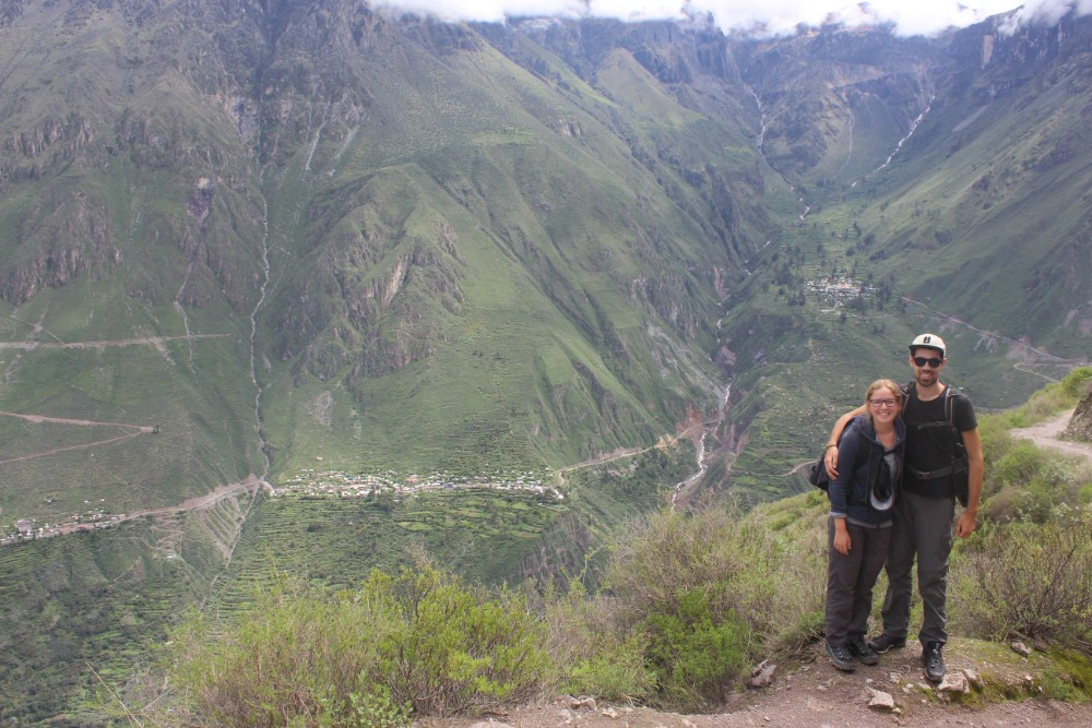 Colca Canyon Peru Südamerika Wandern Aussicht Oben
