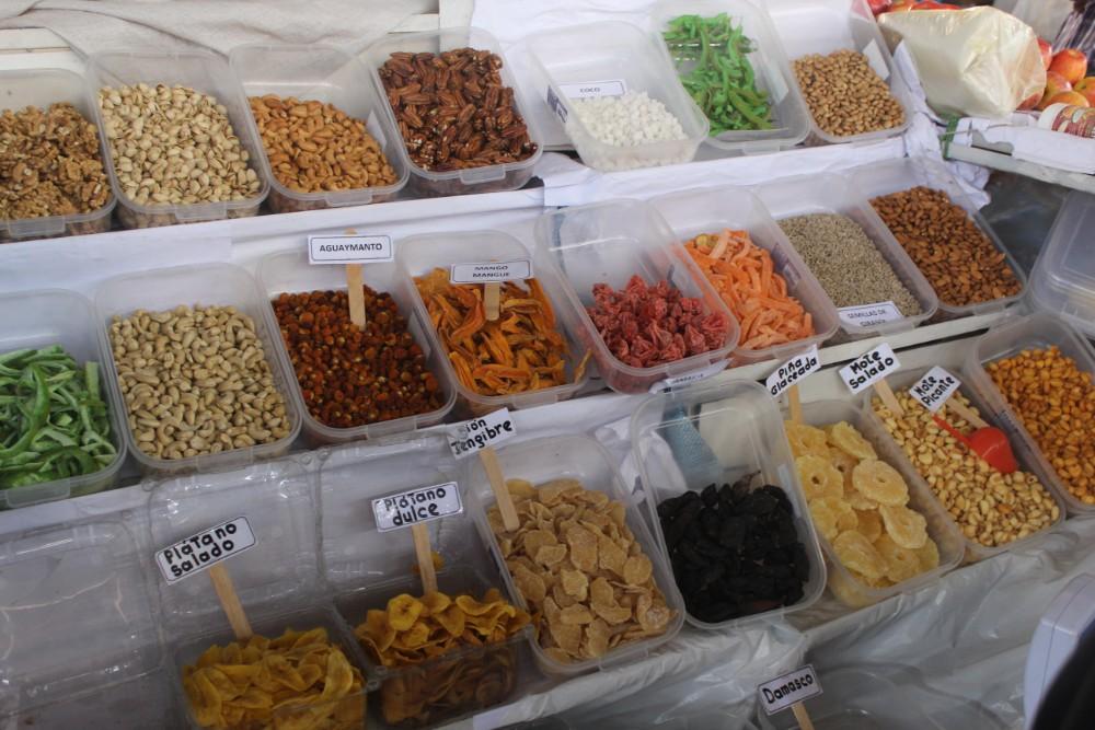 Cusco Peru San Pedro Markt Südamerika Getrocknete Früchte Essen