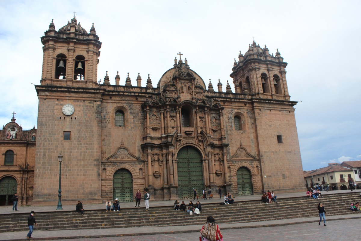 Cusco Peru Südamerika Innenstadt Historisches Zentrum Kolonialzeit Kirche
