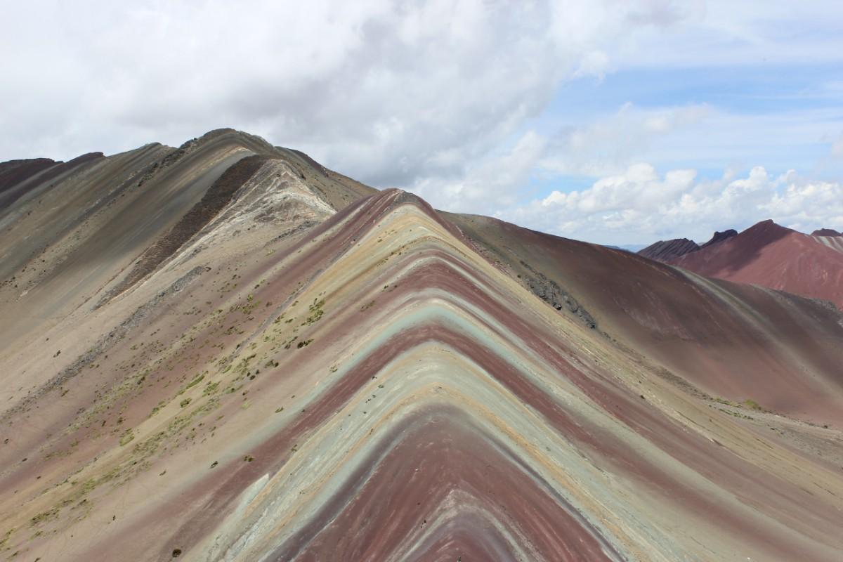 Rainbow Mountains 7 Farben 5100 Meter Wandern Natur Beeindruckend Peru Südamerika