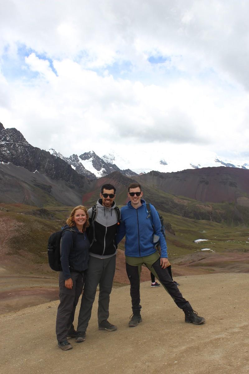 Rainbow Mountains Gletscher 5100 Meter Wandern Natur Beeindruckend Peru Südamerika