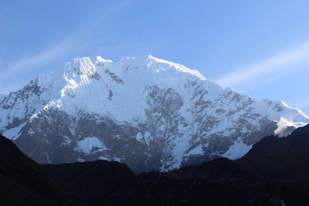 Salkantay Trek Wandern Peru Südamerika Machu Picchu Natur Salkantay Mountain Eis Schnee Fels