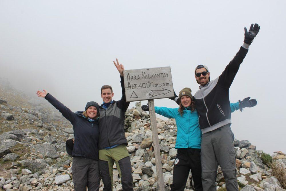 Salkantay Trek Wandern Peru Südamerika Machu Picchu Natur Salkantay Mountain Oben Geschafft