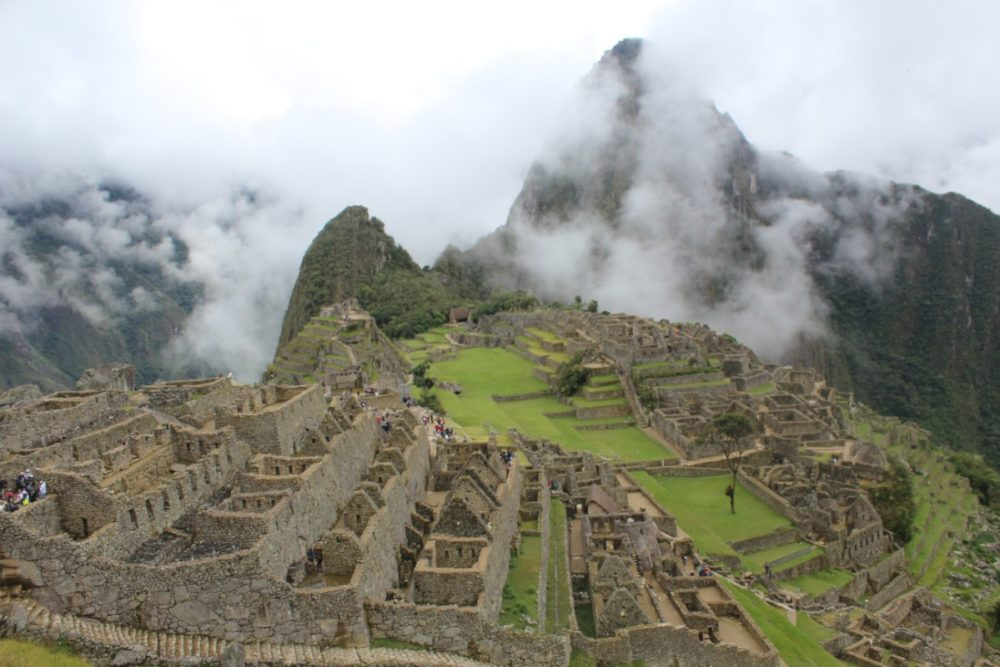 Machu Picchu Peru Südamerika Inka Ruinen Nebel Beeindruckend Wanderung geschafft
