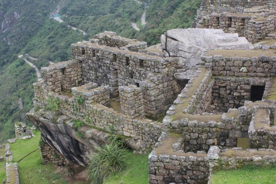 Machu Picchu Peru Südamerika Inka Ruinen  Beeindruckend Wanderung geschafft Gebäude Steine