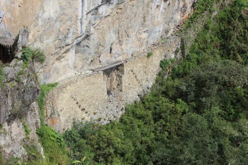 Machu Picchu Peru Südamerika Inka Ruinen  Beeindruckend Wanderung geschafft Inka Brücke Gefährlich