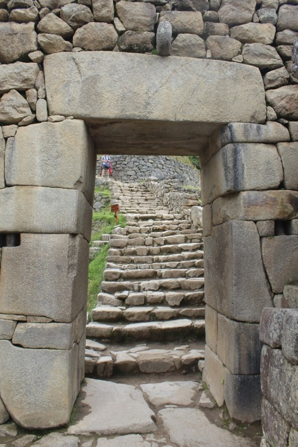 Machu Picchu Peru Südamerika Inka Ruinen  Beeindruckend Wanderung geschafft Eingangstor