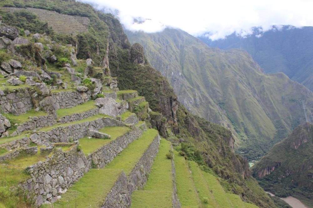 Machu Picchu Peru Südamerika Inka Ruinen  Beeindruckend Wanderung Terassen Abbautechnik