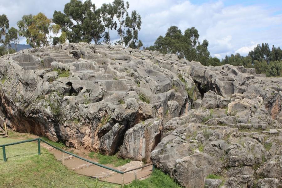Cusco Peru Südamerika Inkastätten Stadt der Könige Indigen Q'enqo