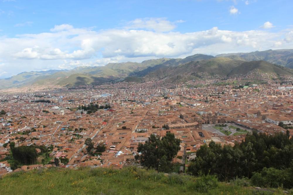Cusco Stadt der Könige Aussicht Aussichtspunkt Peru Südamerika