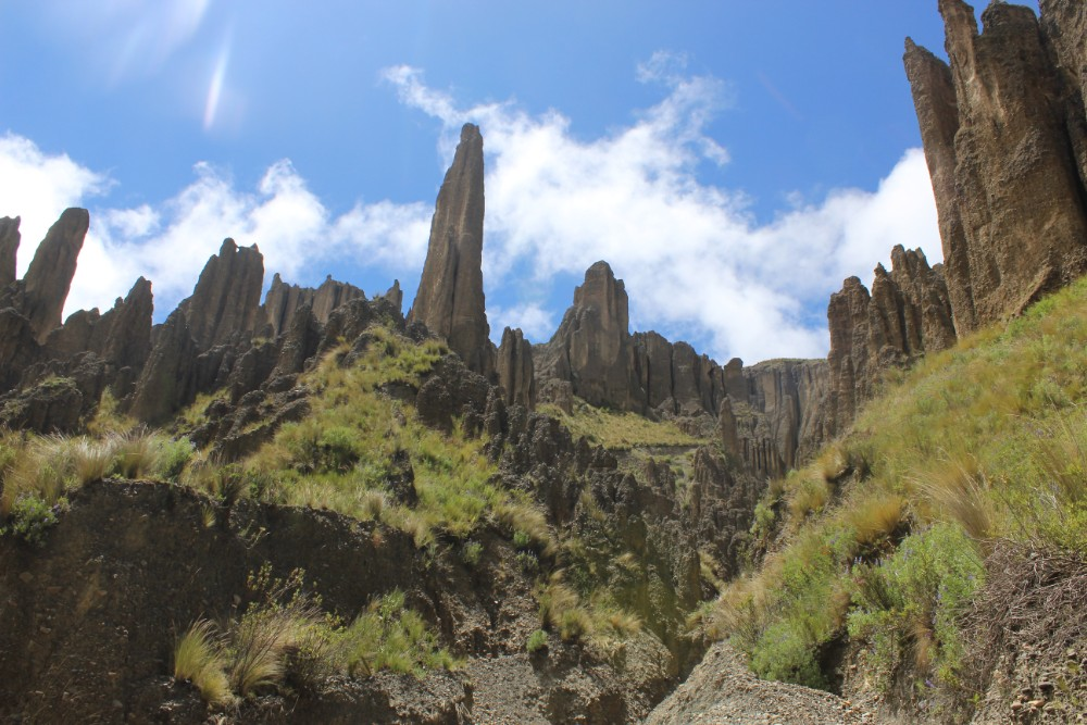 Valle de las Animas Steinformationen La Paz Bolivien Südamerika Flussbett Wandern