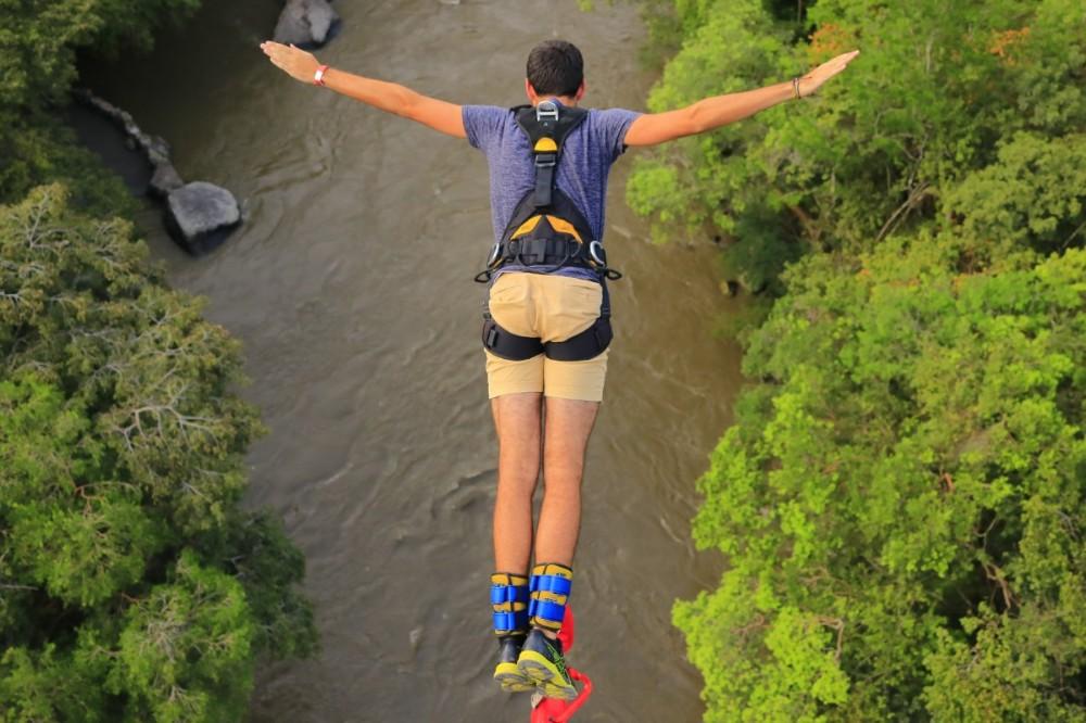 Bungee Sprung Jump Fliegen